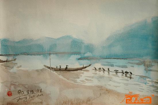 名家 郑君山 油画 - 江南风景2